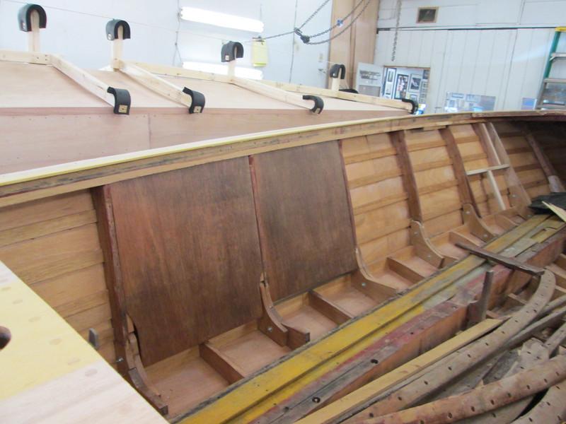 Port ventilation bulkheads installed.