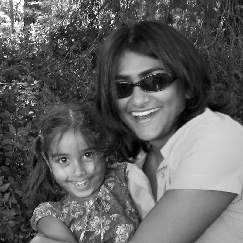 Berry picking with Nisha, 2007