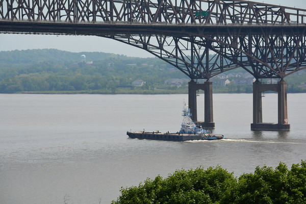 At the Newburgh - Beacon Bridge NY this tug is 27 years old