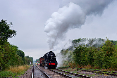 8F #8247 restarts a freight towards East Leake
