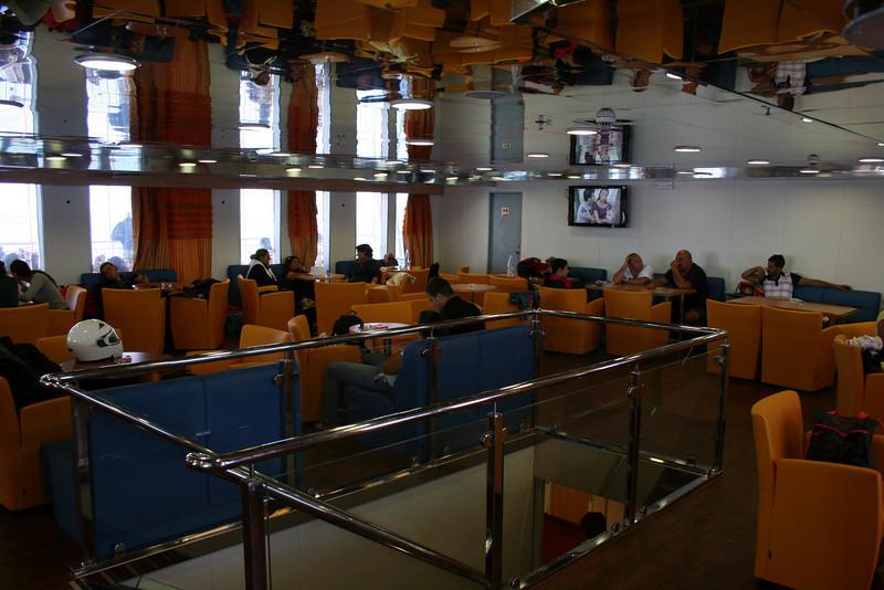 2010 - On board F/B ELLI T : deck 7 bar lounge.
