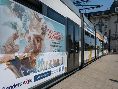 Advertising campaign review...Bike , Bus, Tram in Ghent Belgium