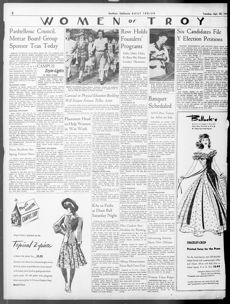 Daily Trojan, Vol. 33, No. 130, April 28, 1942