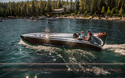 Sparkling Gar Wood raceboat, the hornet II, looks fabulous at the 2011 Tahoe Concours D'Elegance