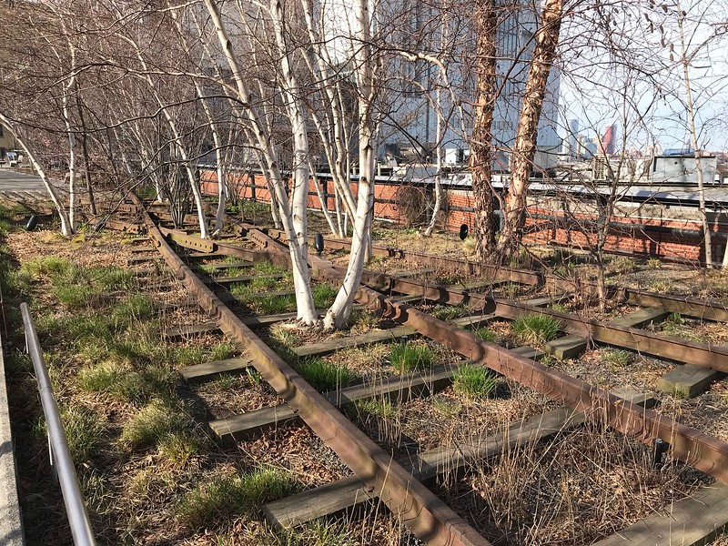 The old rails on the High Line
