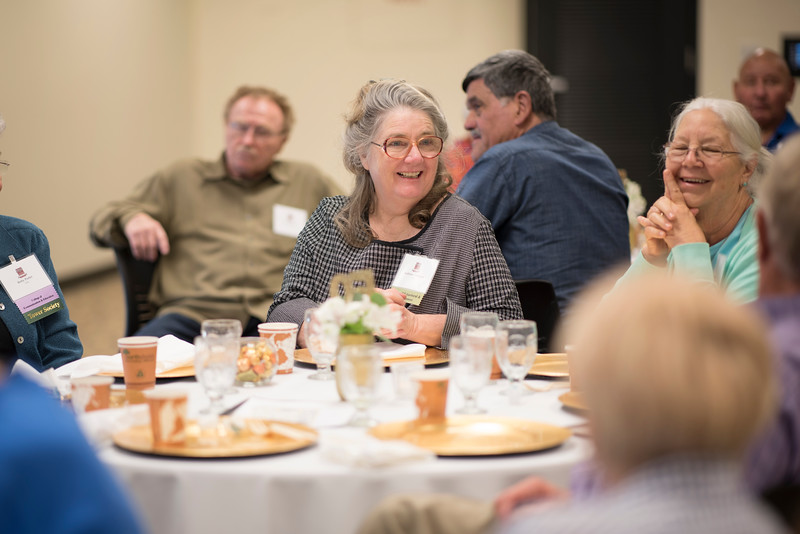 The Golden Grad class of 1976 event is held in the Bell Memorial Union on Thursday, October 13, 2017 in Chico, Calif.  (Jessica Bartlett/University Photographer)