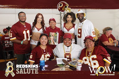Washington Redskins WOW & Redskins Salute Kickoff Tailgate: 9/15/2019