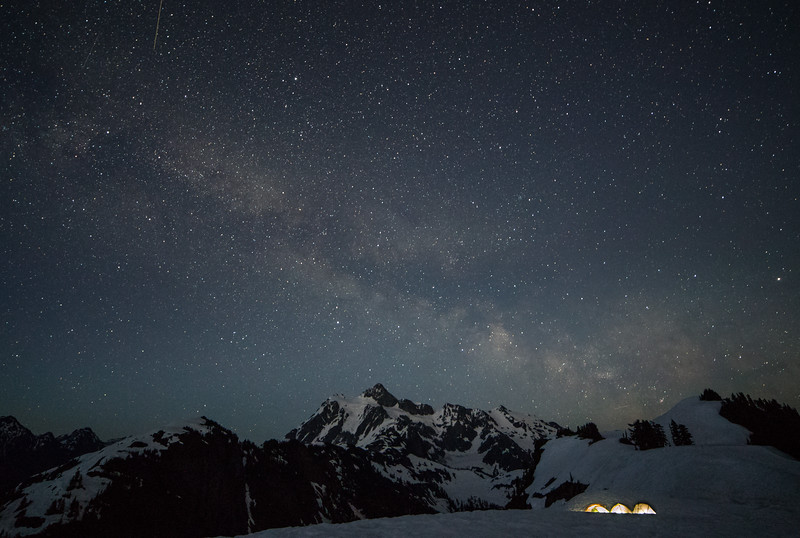 Mt. Shuksan and milky way