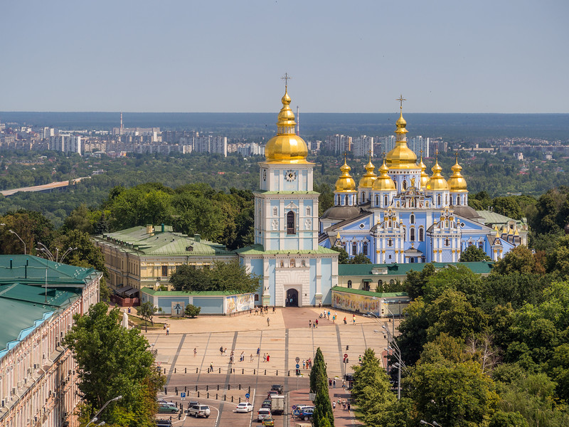 St Michael's Monastery from Above, Kiev, Ukraine