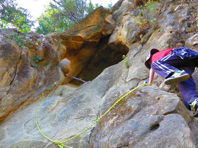 A natural rock climber.