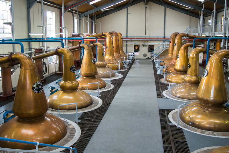 Linda loved the smell of scotch whisky distillation.