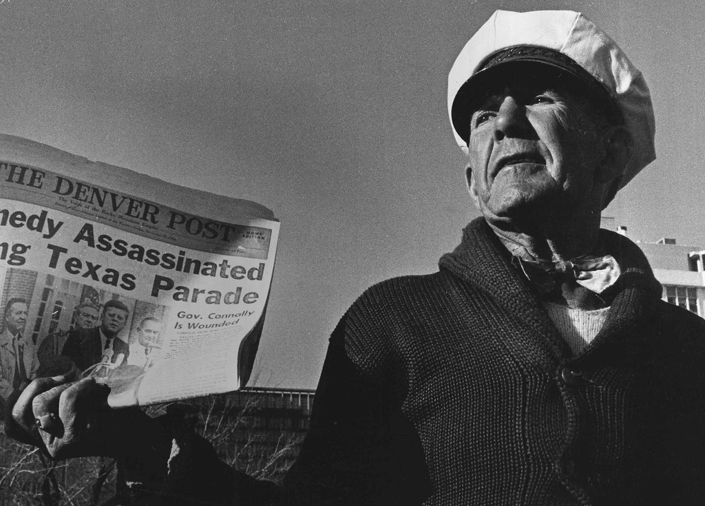 . The Denver Post was still an afternoon newspaper  the day Kennedy was killed and had to rush to get out the Home Edition on Nov. 22, 1963. Residents gathered at newsstands and read in silence the details of the slaying. Denver Post file