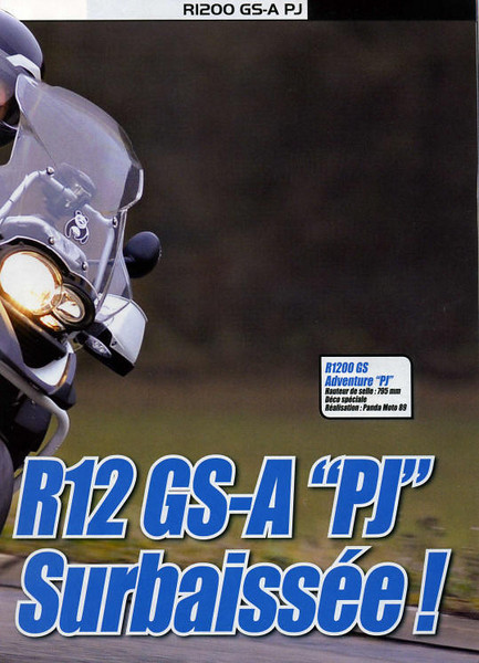 "Article Jan/Feb 2009: R1200GS-A ""PJ"" featuring the Panda Moto 89 BMW R1200GS ""PJ"" Adventure