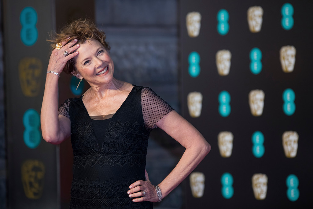 . Annette Bening poses for photographers upon arrival at the BAFTA Film Awards, in London, Sunday, Feb. 18, 2018. (Photo by Vianney Le Caer/Invision/AP)