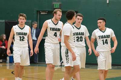 Tigard High School Boys Varsity Basketball vs Tualatin - Home