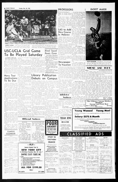 Daily Trojan, Vol. 55, No. 45, November 26, 1963