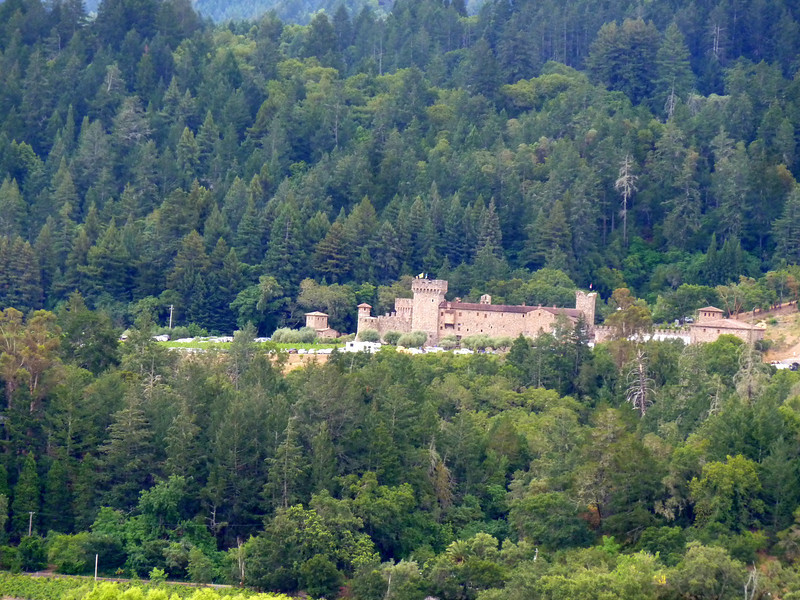 View of Castello di Amorosa winery