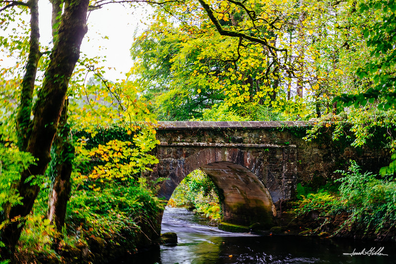 Bridge on Owenmore River, Ballynahinch Castle and Hotel
