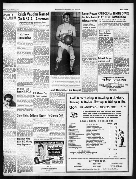 Daily Trojan, Vol. 31, No. 102, March 12, 1940