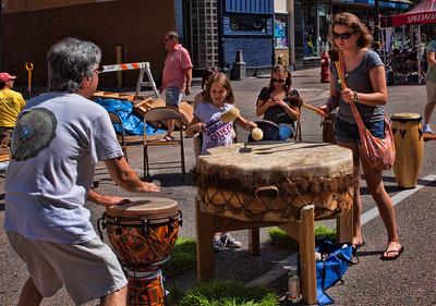 Drum Circle on Pearl Street  2012