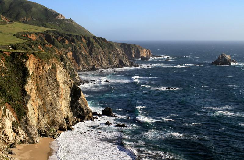 High cliffs at the bridge