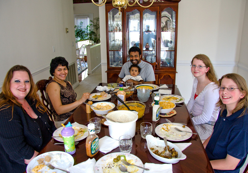 A Sunday lunch at the home of our friends, Rajesh and Priyanka.   Their cute little boy, Ronak just turned one.
