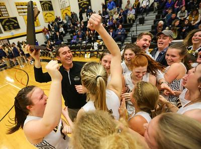 Glen Lake Girls Basketball takes 2020 District title