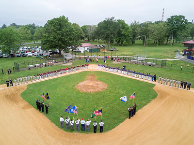 Aerial Views of Bridgeport American Legion Baseball's Salute to Public Servants (6/17/17)