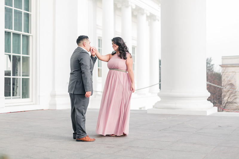 Richmond Virginia Engagement Session at The Virginia State Capital  © Sarah Duke Photography