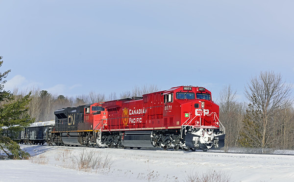 Canadian National 328, Lacolle, Quebec, February 28 2020.