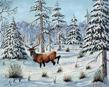 WILFRED BIBEAU, SNOW SERIES Paintings- West Duluth Artist in Oils