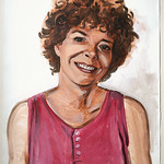 Portrait study - Patsy Bob; acrylic on paper, 22 x 30 in, 1995