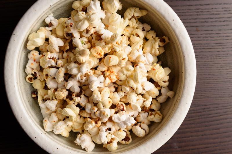popcorn with togarashi