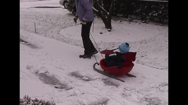 Shoveling Driveway & Throwing Snowballs.mp4