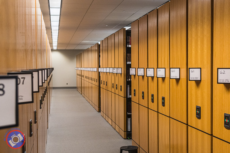 The Moveable Stacks Containing Genealogy Research Material in the Allen County Library (©simon@myeclecticimages.com)