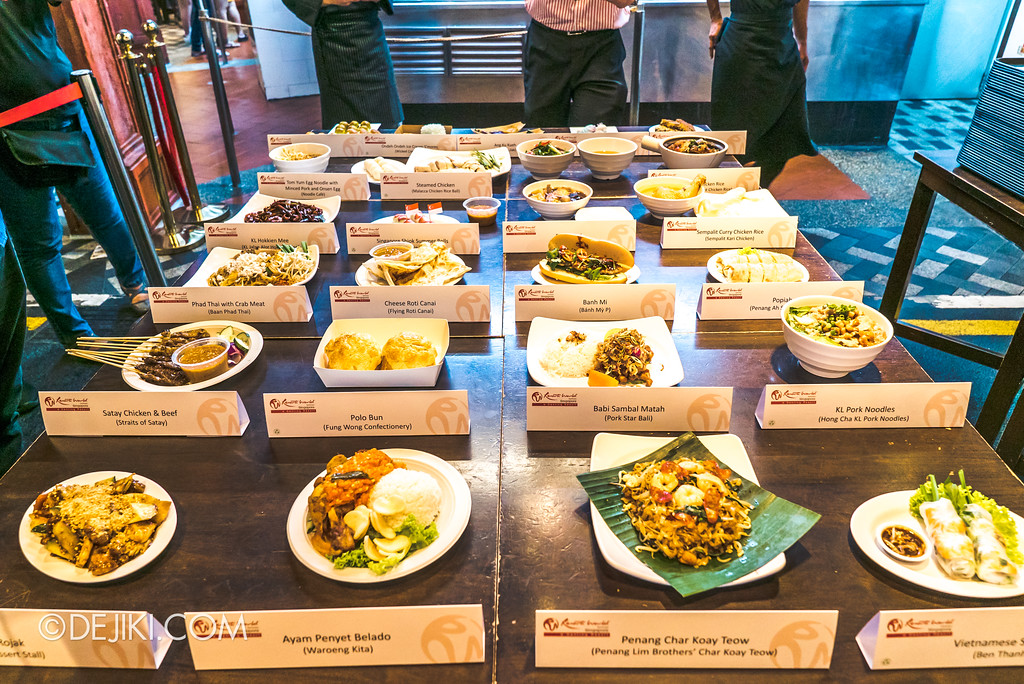 RWS Street Eats 2018 - Spread of Dishes available