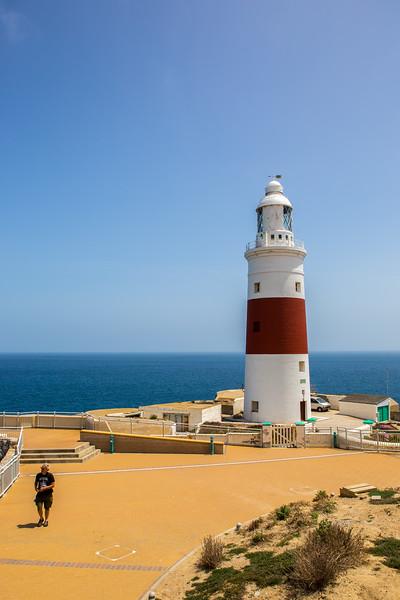 Lighthouse on Rock of Gibraltar