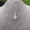 1.52ctw Edwardian Diamond Platinum Pendant 16