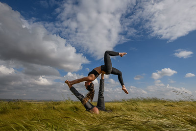AcroYoga in the Negev with Tuf & Elad