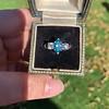 1.73ctw Blue Marquise Cut Diamond Trilogy Ring 22