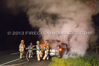 Rt. 8 SB Exit 12 Truck Fire (Shelton, CT) 8/3/13