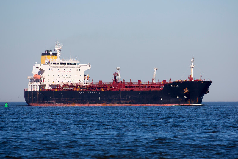 The Tanker Favola:  About 26,000 tons