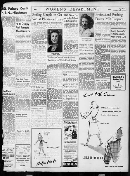 Daily Trojan, Vol. 38, No. 104, March 27, 1947