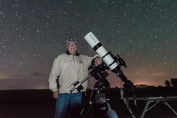 Selfie with 130mm Refractor