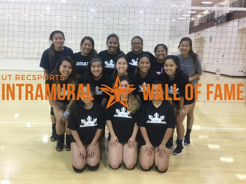 Spring 2018 Volleyball Women's B Champion Filipinho3z