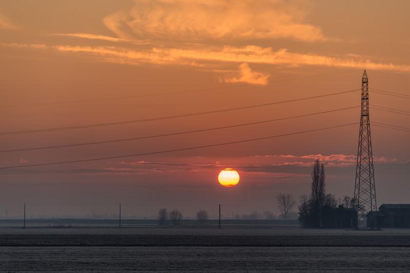 Sunrise - Crevalcore, Bologna, Italy - December 19, 2017
