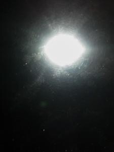 Flare fra flash set i flyvindue