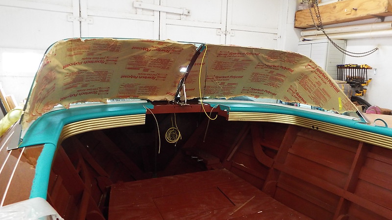 Inside view of both port and starboard windshields and new rubber trim fit.