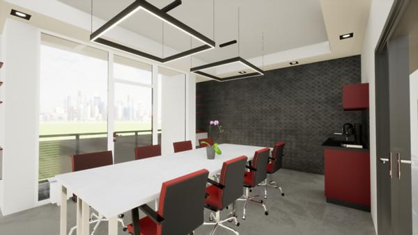 Zasedací místnost v administrativní budově
