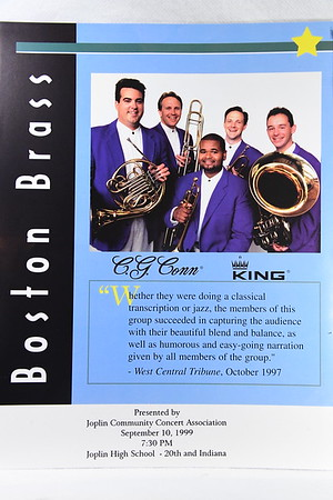 9-10-1999 Boston Brass @ Joplin Community Concerts